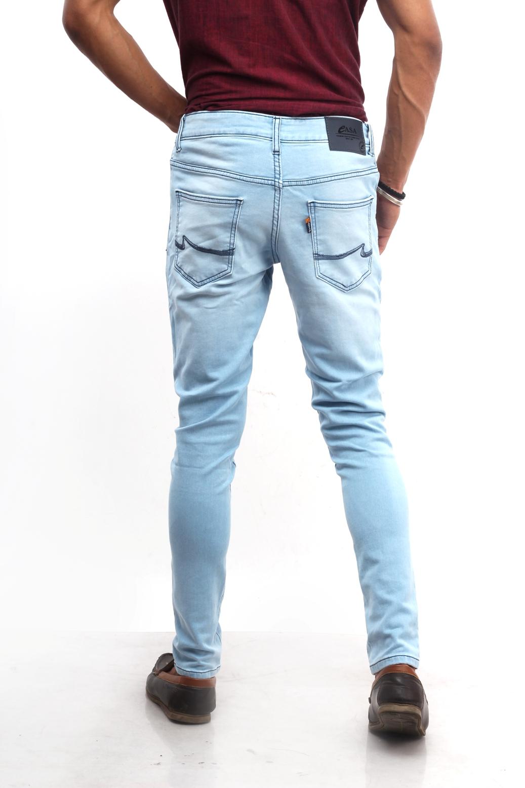 CASA Men's Cotton polo Fit Jeans