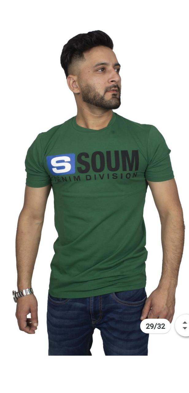 Soumj Men Stylish Half sleeve Printed casual T-shirt with Round Neck